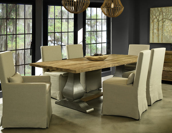 ISL13-102   ISLAND ESTATE RECLAIMED TEAK DINING TABLE