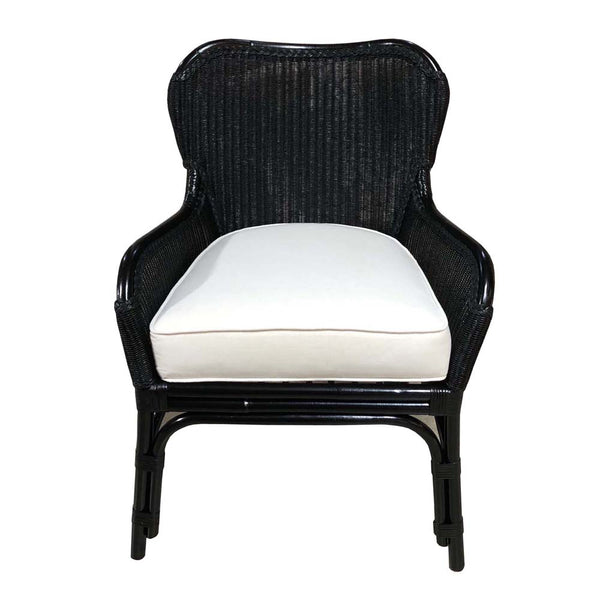 JORDAN WING DINING CHAIR – LOOM - BLACK - Padma's Plantation