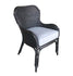 JORDAN WING DINING CHAIR – WICKER - BLACK - Padma's Plantation