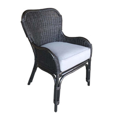 JORDAN WING DINING CHAIR – WICKER - BLACK