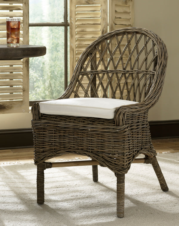 KUBU CROSS WEAVE DINING CHAIR - SET OF 2