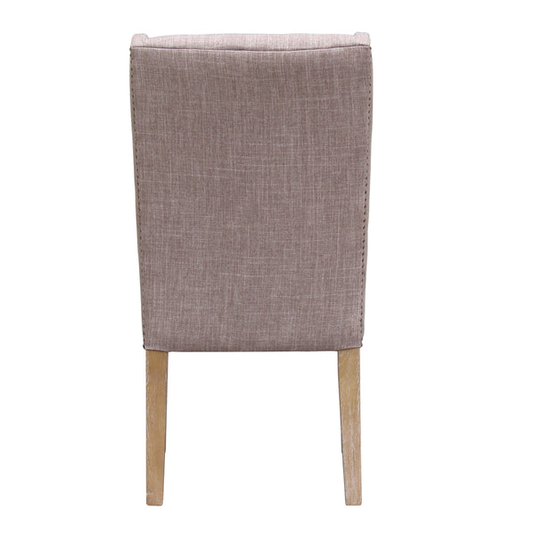 KEY WEST DINING CHAIR - OATMEAL LINEN - SET OF 2 - Padma's Plantation