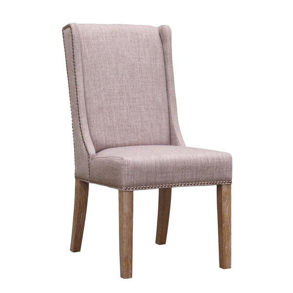 KEY WEST DINING CHAIR - OATMEAL LINEN - SET OF 2