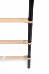 RATTAN DECORATIVE LADDER - BLACK/NATURAL - Padma's Plantation