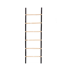 RATTAN DECORATIVE LADDER - BLACK/NATURAL