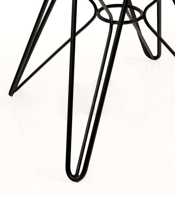 MADRID STOOL - BLACK - Padma's Plantation