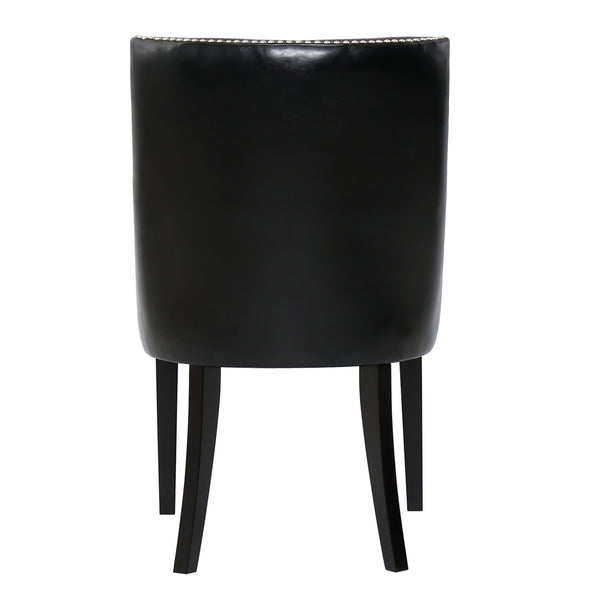 METRO DINING CHAIR - BLACK ECO-LEATHER
