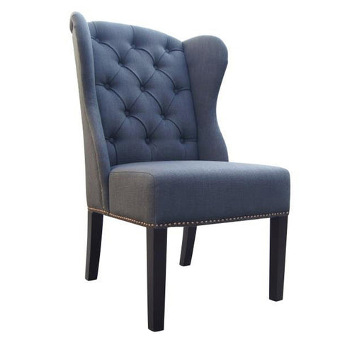 NAPLES DINING CHAIR - CHARCOAL LINEN