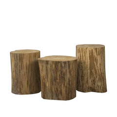 "NATURAL TREE STUMP SIDE TABLE 15"" / 17"" / 19"""