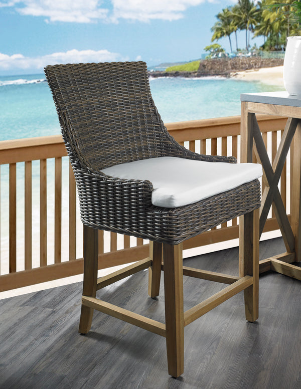 OUTDOOR ALFRESCO COUNTER STOOL - CROCODILE RATTAN - Padma's Plantation