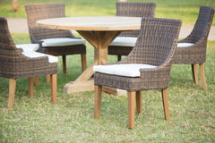 Outdoor Alfresco Dining Chair - Crocodile Rattan - Padma's Plantation