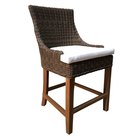 OUTDOOR ALFRESCO COUNTER STOOL - CROCODILE RATTAN
