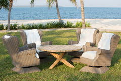 OUTDOOR BORA-BORA CHAT TEAK TABLE - Padma's Plantation