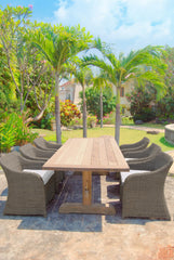OUTDOOR PORTO FINO DINING TABLE - Padma's Plantation