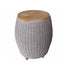 OUTDOOR PARADISE END TABLE WITH TEAK WOOD TOP - Padma's Plantation