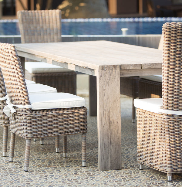 RALPH RECLAIMED TEAK OUTDOOR DINING TABLE - 108