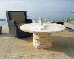 Stone Stack Outdoor Chat Table  Base - Padma's Plantation