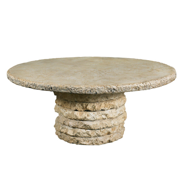 Stone Stack Outdoor Chat Table  Base