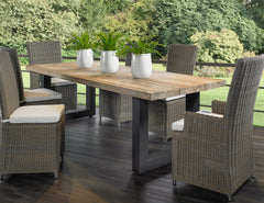 OUTDOOR VITTORIA RECLAIMED TEAK DINING TABLE - Padma's Plantation