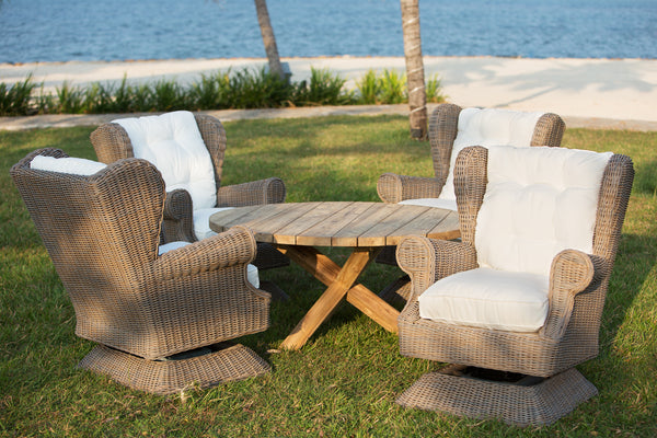 OUTDOOR WING / SWIVEL ROCKING CHAIR - Padma's Plantation
