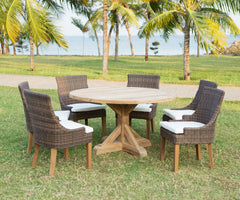 Xena Reclaimed Outdoor Teak Dining Table - Padma's Plantation