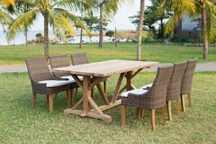 "Xena Reclaimed Teak Dining Table - 79"" - Padma's Plantation"