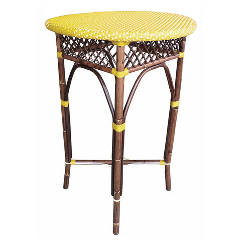 Paris Bistro Bar Table  - Yellow