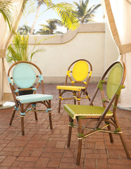 Paris Bistro Chair - Blue  - Set of 2 - Padma's Plantation