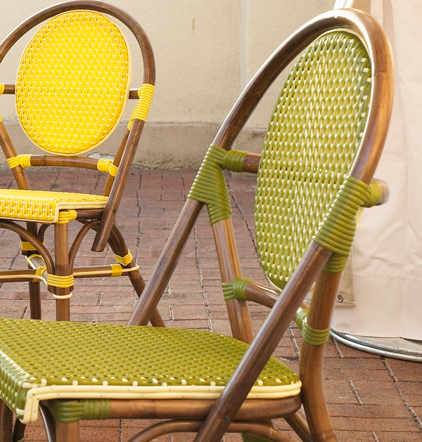 SET OF 2 - Paris Bistro Chair - Green - Padma's Plantation