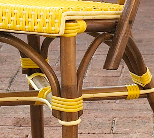 SET OF 2 - Paris Bistro Chair - Yellow - Padma's Plantation