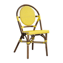 SET OF 2 - Paris Bistro Chair - Yellow