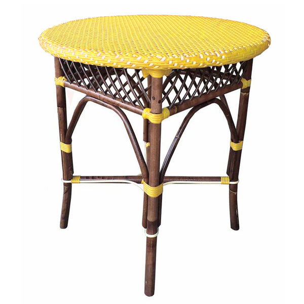 Paris Bistro Dining Table  - Yellow - Padma's Plantation