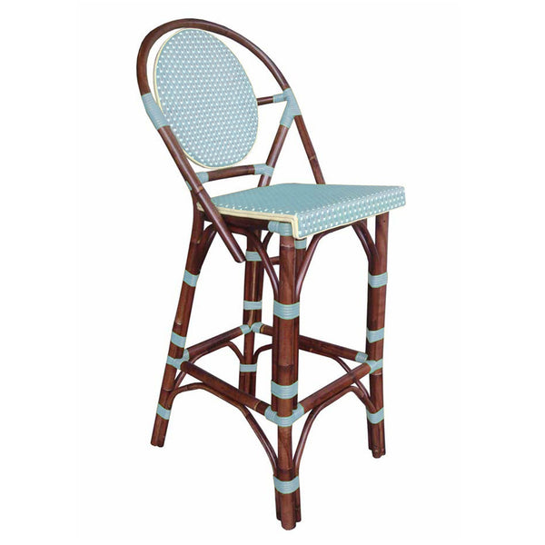 Paris Bistro Bar Stool - Blue - Padma's Plantation