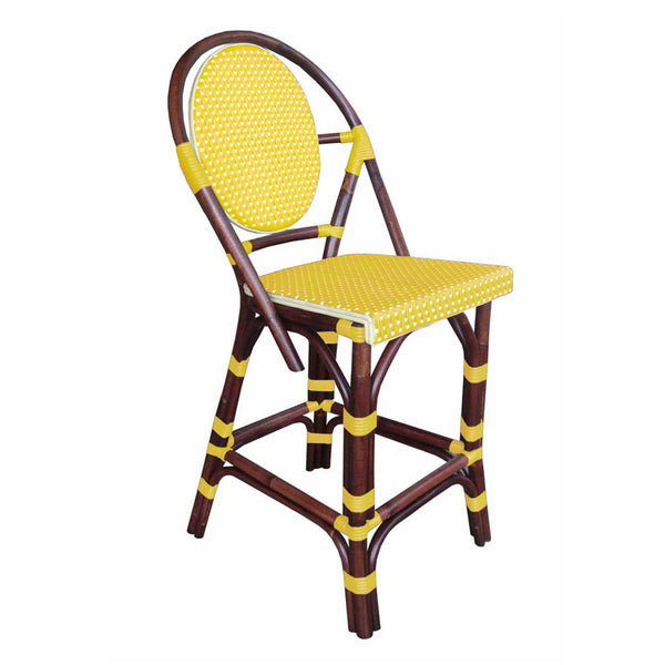 Paris Bistro Counter Stool - Yellow - Padma's Plantation