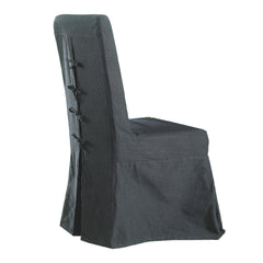 Pacific Beach Dining Chair - Charcoal Linen