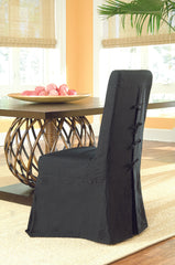 Pacific Beach Dining Chair Slipcover - Black - Padma's Plantation