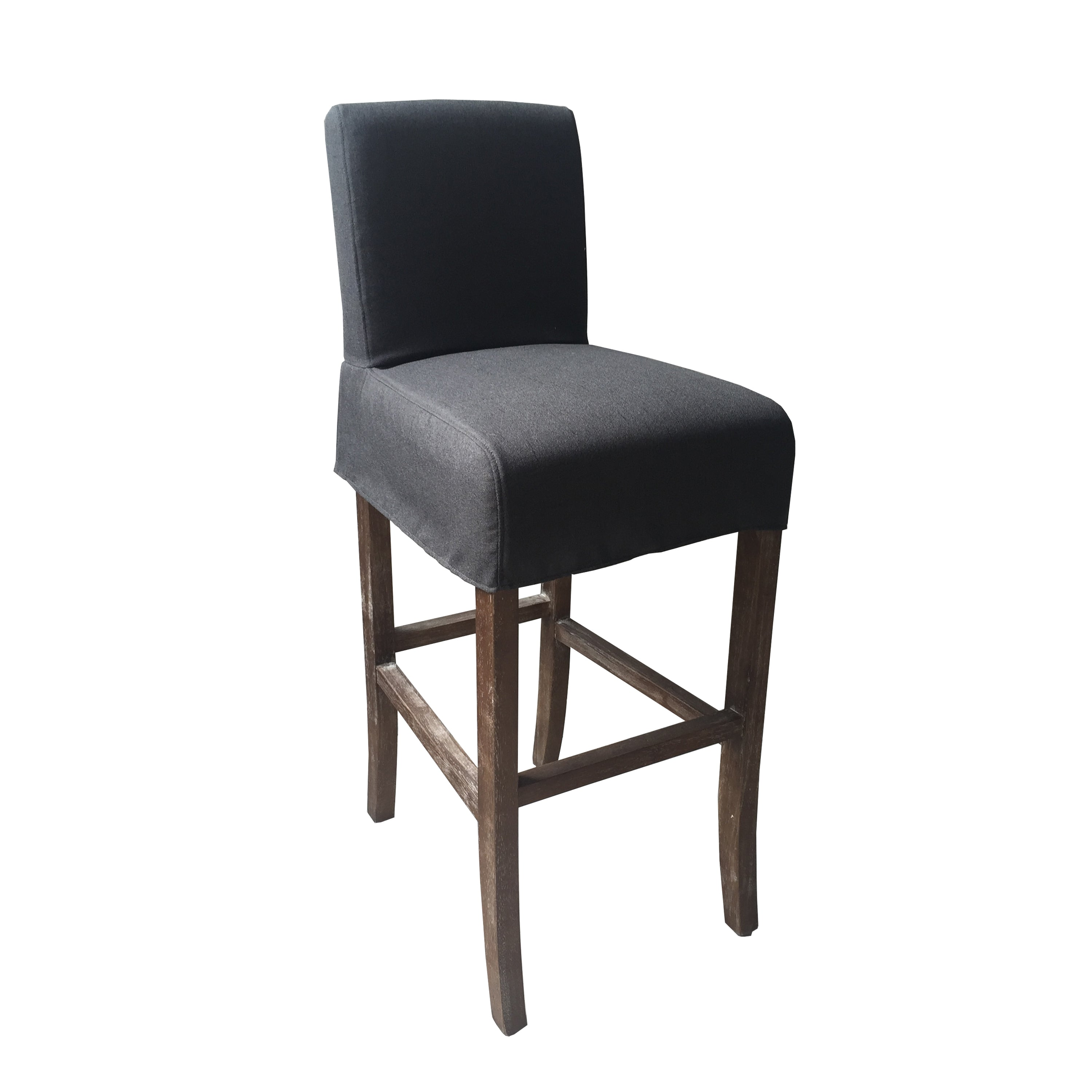Sensational Pacific Beach Slipcovered Counter Stool Charcoal Linen Gmtry Best Dining Table And Chair Ideas Images Gmtryco