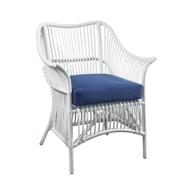 Palm Occasional Chair - White / Navy - Padma's Plantation