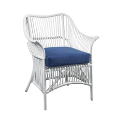 Palm Occasional Chair - White / Navy
