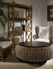 Paradise Ottoman - kubu -with Wood Top - Padma's Plantation