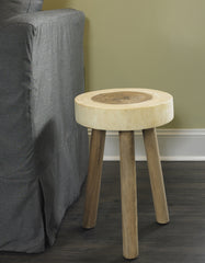 RAIN WOOD STOOL - Padma's Plantation