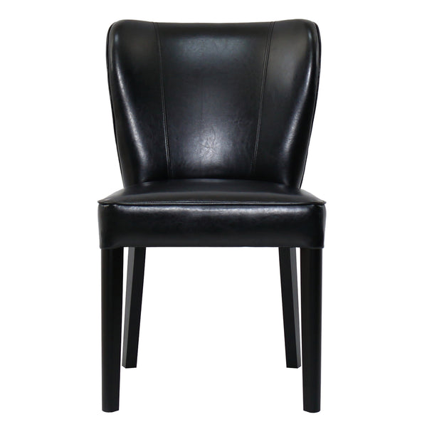 REST BEACH DINING CHAIR - BLACK ECO LEATHER
