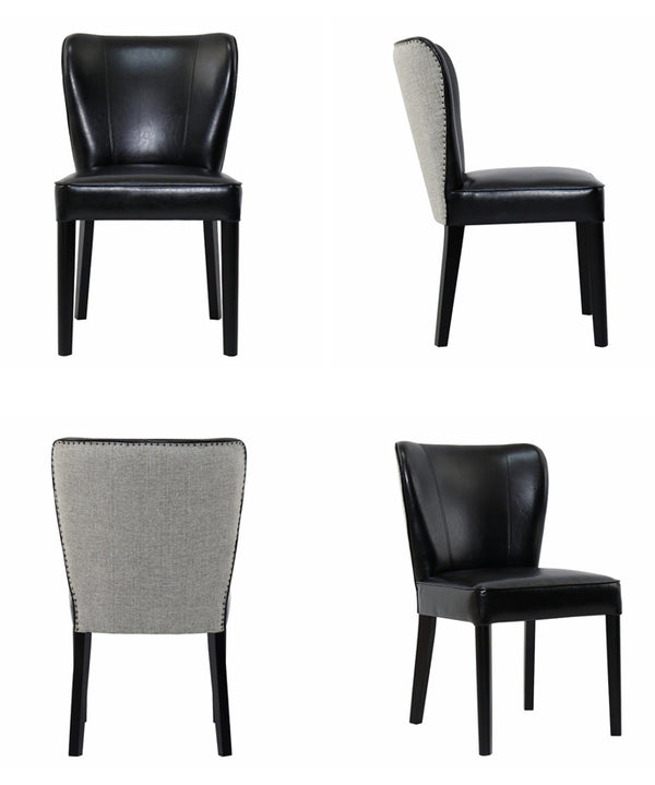REST BEACH DINING CHAIR - BLACK ECO LEATHER - Padma's Plantation