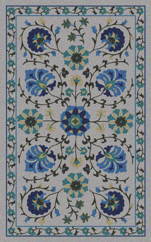Asaka Outdoor Rug - Whisper / Aegean (More Sizes Available)