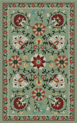 Asaka Outdoor Rug - Celery / Poppy (More Sizes Available)