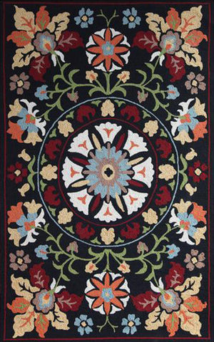 KHIVA OUTDOOR RUG 2 x 3 ONYX - MULTI COLORED