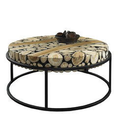 SAFARI ROUND COFFEE TABLE