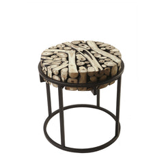 SAFARI ROUND SIDE TABLE