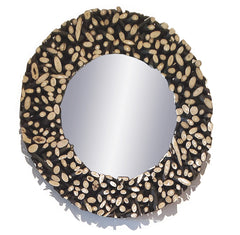 SAFARI ROUND MIRROR