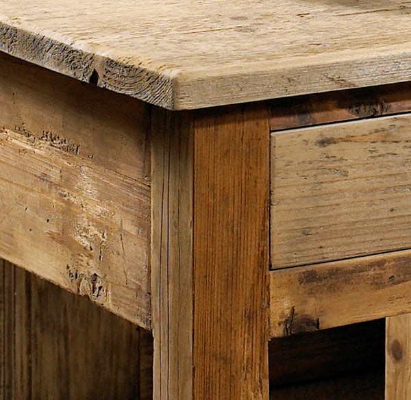 Salvaged Wood End Table - Padma's Plantation